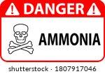 ammonia danger sign vector... | Shutterstock .eps vector #1807917046