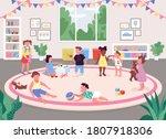 kindergarten room flat color...   Shutterstock .eps vector #1807918306