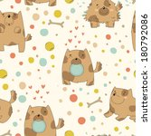 bright children's pattern with... | Shutterstock .eps vector #180792086