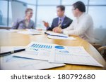 colleagues meeting to discuss... | Shutterstock . vector #180792680