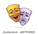 two theatrical comedy and drama ... | Shutterstock .eps vector #1807932820