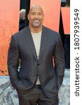 Small photo of London, United Kingdom - April 11, 2018: Dwayne Johnson attends the European Premiere of 'Rampage' at Cineworld Leicester Square in London, UK.