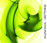 abstract green  wave background ... | Shutterstock . vector #180794846