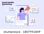 vector flat illustration social ...