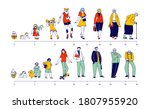 male and female characters life ... | Shutterstock .eps vector #1807955920