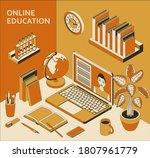 online education concept with... | Shutterstock .eps vector #1807961779