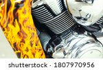 Chromed Motorcycle Engine Close ...
