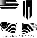 vector of the american flag   4 ... | Shutterstock .eps vector #1807979719