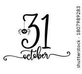 october 31   halloween quote on ...   Shutterstock .eps vector #1807989283
