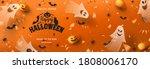 happy halloween sale horizontal ... | Shutterstock .eps vector #1808006170