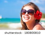 closeup of young woman in... | Shutterstock . vector #180800810