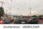 Raindrop On Windshield Colorfu...
