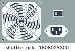 power unit icon. flat color...