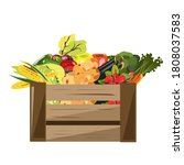 the box that was filled with... | Shutterstock .eps vector #1808037583