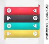 modern business origami style... | Shutterstock .eps vector #180804650