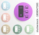 computer server badge color set....