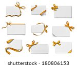 collection of various note card ... | Shutterstock . vector #180806153