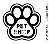 illustration of pet shop logo... | Shutterstock . vector #1808061853