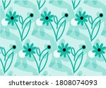 abstract ethnic floral designs... | Shutterstock .eps vector #1808074093