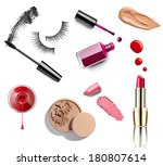 collection of various make up... | Shutterstock . vector #180807614