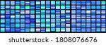 vector set of blue gradients... | Shutterstock .eps vector #1808076676