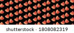 Vector Red Hearts Seamless...