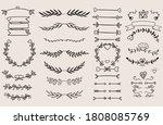 vintage ornament divider set... | Shutterstock .eps vector #1808085769