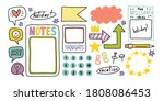 diary elements. hand drawn... | Shutterstock .eps vector #1808086453