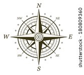 Classic Wind Rose Isolated On...
