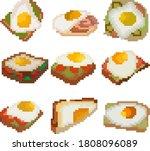 A Set Of Nine Food Items Made...