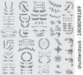 vintage ornament divider set... | Shutterstock .eps vector #1808098189