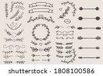 vintage ornament divider set... | Shutterstock .eps vector #1808100586