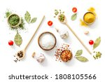 Pattern Of Spices Herbs And...
