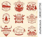 Set Of Merry Christmas And 2021 ...