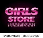 vector glamour sign girls store.... | Shutterstock .eps vector #1808137939
