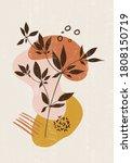botanical print boho minimalist ... | Shutterstock .eps vector #1808150719