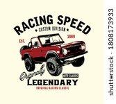 vector of racing speed  car... | Shutterstock .eps vector #1808173933