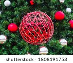 A Large Red Wicker Ball...