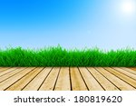 background with fresh green... | Shutterstock . vector #180819620