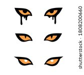 set of three pairs of evil... | Shutterstock .eps vector #1808200660