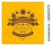summer vector typography.... | Shutterstock .eps vector #180820373
