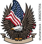 american flag with bald eagle... | Shutterstock .eps vector #1808207056