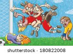 goal. hand drawn vector without ... | Shutterstock .eps vector #180822008