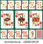 playing cards heart suit  joker ... | Shutterstock . vector #180823019