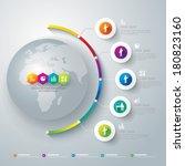 abstract 3d digital... | Shutterstock .eps vector #180823160