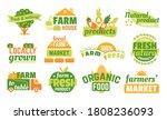 farm market labels set of... | Shutterstock .eps vector #1808236093