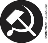 communist star with hammer and... | Shutterstock .eps vector #180823850
