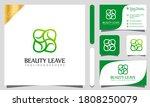 beautiful green flower leaves... | Shutterstock .eps vector #1808250079