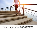 healthy lifestyle sports woman... | Shutterstock . vector #180827270