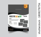 real estate flyer for real...   Shutterstock .eps vector #1808278756